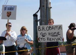 Obama go home picture