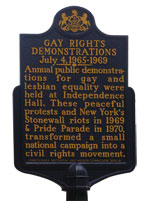 Independence Hall gay rights marker