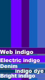indigo color range