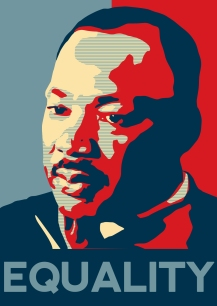 Martin Luther King equality poster by MalteBlom