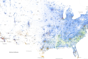 racial map USA mostly