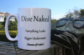 dive naked everything looks bigger underwater
