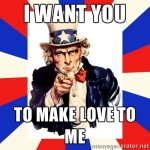 Make love to Uncle Sam