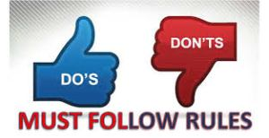 rules must follow