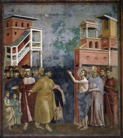 St. Francis renouncing worldly goods by Giotti Di Bondone