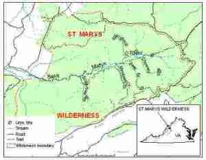 St. Mary's Wilderness Liming_Sites_Map