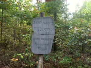 St. Mary's Wilderness sign