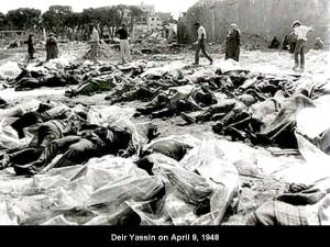Deir Yassin just after the massacre April 9 1948. peace.maripo.com