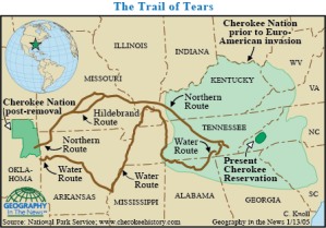 The forced marchof Cherokee westward voice.nationalgeographic.com