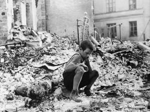 War WW II rubble