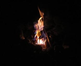 fire in darkness