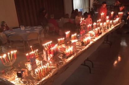 Hanukkah party Mishkan Torah 2015