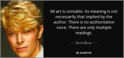 David Bowie all art is unstable