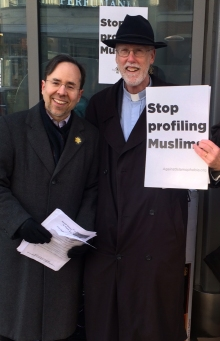 Jonathan and Robin JVP Islamophobia action
