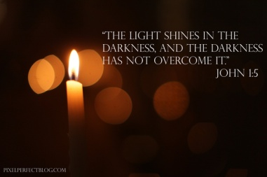 light shines in the darkness John 1-5