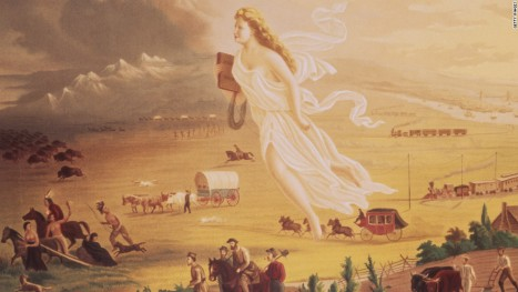 American Exceptionalism 1872 painting by John Gust (after Thomas Hart Benton) cnn com