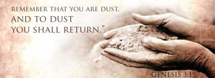 ash Wednesday dust filled hands stmarkscatholicchurch com
