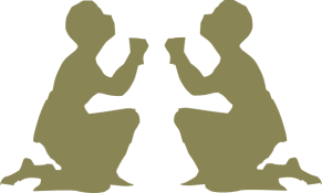 two praying silhouettes clipart222 com
