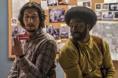 Adam Driver and Washington in BlackkKlansman